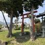 陣屋標柱@山中稲荷神社