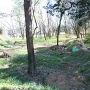 新府城首洗い池の跡