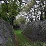 東南隅櫓から見た二之丸方面の堀跡
