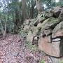 馬屋跡の石垣