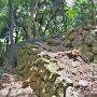 東の丸二段曲輪石垣(東側)