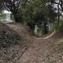 堀底道の分岐点