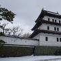 雪の松前城