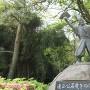 清正公石曳の像
