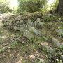 石垣で補強された土塁