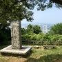 門司城跡から関門橋を望む
