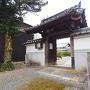 常禅寺山門と城址碑