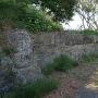 二の丸の土塁の石垣