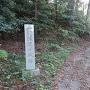 勝間田城入り口の石碑