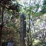 勝間田城跡の石碑