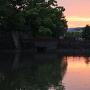 北御門橋と夕焼け