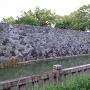 石垣修復跡(2009駿河湾地震)