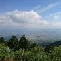 山頂から筑後平野を望む