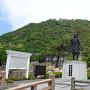吉川経家公像と久松山