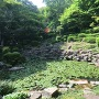 海蔵寺にある元禄時代の石組庭園
