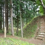 本丸堀と登り口