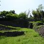 埋門跡と石垣