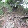 楠公寺方面から山頂へ最後の難関