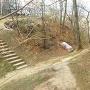 曲輪間の空堀