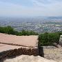 城門跡からの高松市