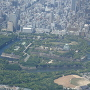 大阪城、空から