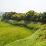 本丸高土塁から見る城址