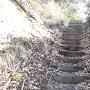 城内最高所へ至る階段