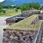 戌亥櫓より北不明門付近を望む