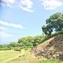本丸登城口からの二の丸石垣