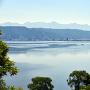 城跡から諏訪湖を望む