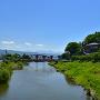 天竜川と花岡城遠景