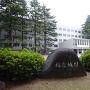 福島県庁と城址の石碑