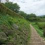 池尻口から見た本丸への登城路