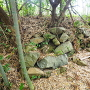 心月庵から出丸への途中にある石垣