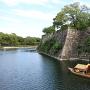 水堀と遊覧船