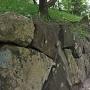 天守閣跡付近の石垣