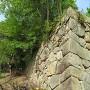 三の丸西側の石垣