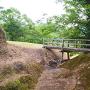 横堀と竪堀に架かる木橋