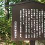 戊辰戦争薩軍戦死者の墓 案内板