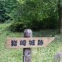 城跡表示板と城跡石碑
