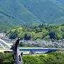 福知山城から猪崎城を望む