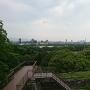 天守台からの福岡市内の眺望