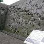 石垣に残された弾痕