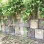 内部の土塁部の石垣