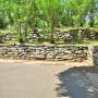 隅櫓跡付近の内側二段石垣