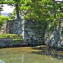 太鼓櫓跡付近の石垣をアップで