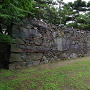 武具櫓跡の北面石垣