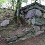 武具櫓跡の内側石垣、南東部