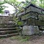 月見櫓跡の内側石段と石垣