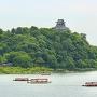 犬山城 昼鵜飼舟と一緒に